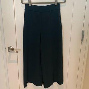 Zara High Waist Wide Leg Crop Pants / Culottes
